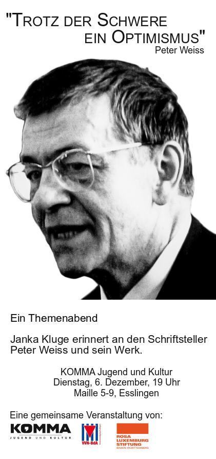 Peter Weiss Lesung